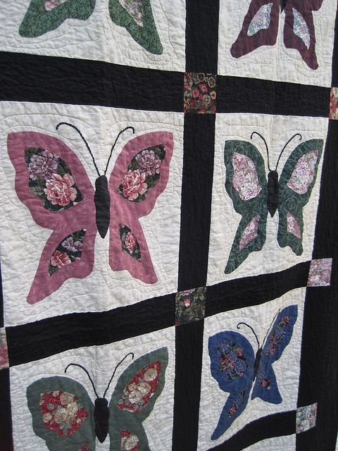 moms butterfly quilt butterfly quilts butterfly quilt Interesting Butterfly Applique Quilt Pattern Gallery