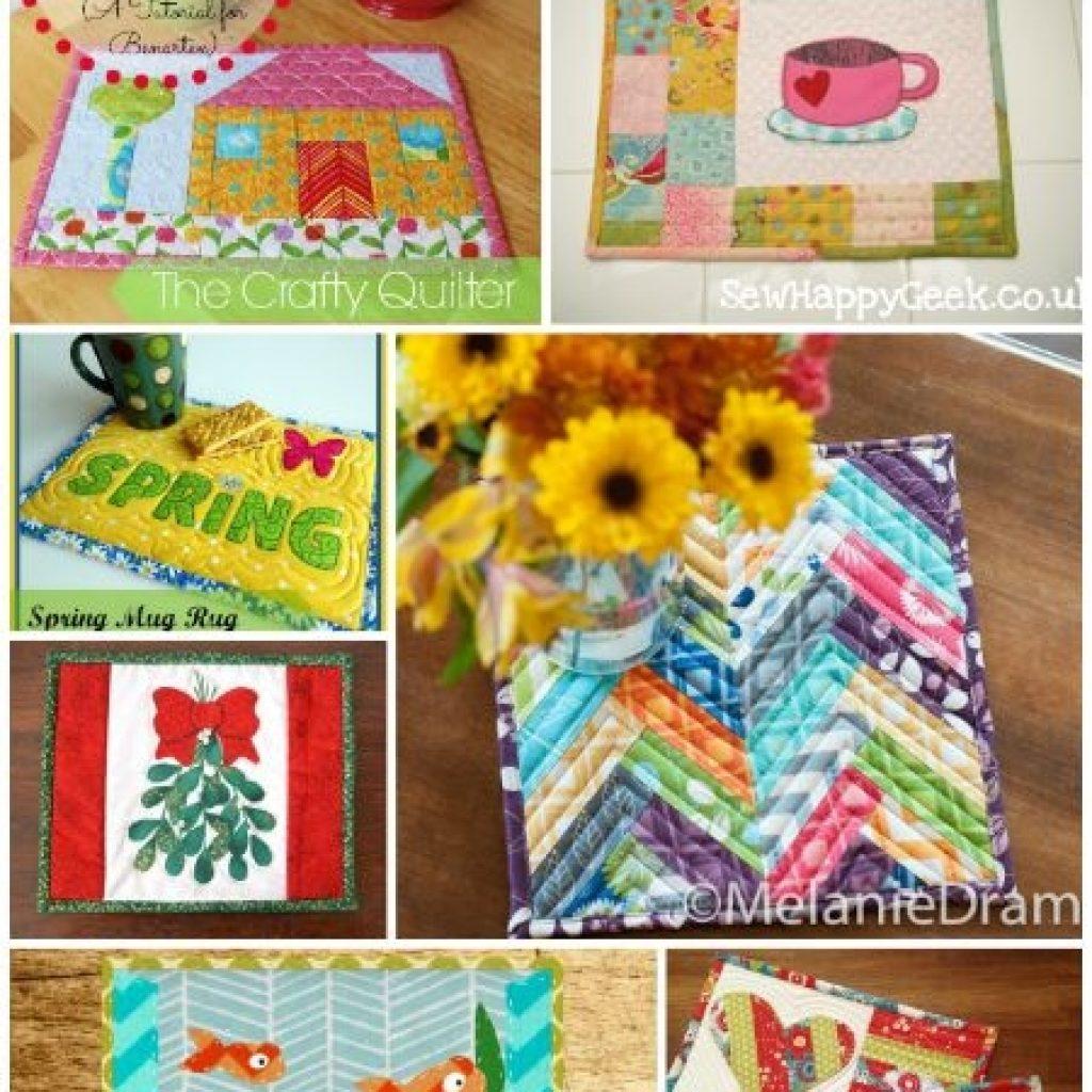 mug rug madness the best free mug rug patterns Stylish Quilted Mug Rug Patterns Gallery