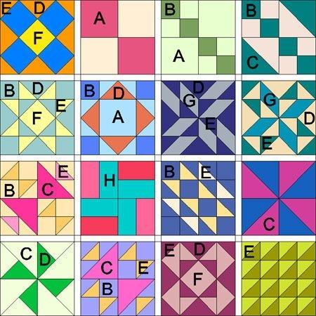 multiple simple quilt block patterns ms ms slavery Interesting Simple Block Quilt Patterns