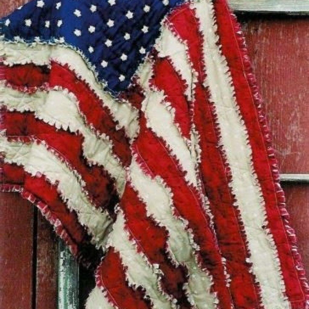 my cute idea american flag rag quilt sewing quilting Cool American Flag Rag Quilt Pattern Gallery