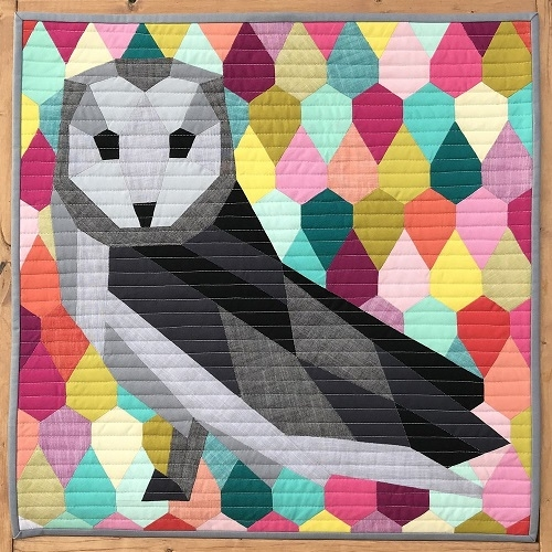 my owl barn geometric animal quilt patterns violet craft Modern Geometric Quilting Patterns Gallery