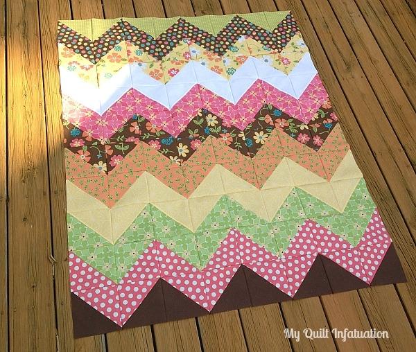 my quilt infatuation easy peasy chevron quilt tutorial Chevron Quilt Block Pattern Gallery