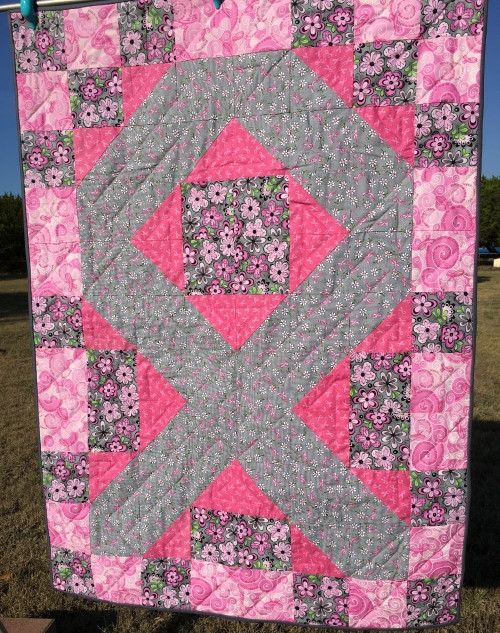nanasgiftsfromtheheart on artfire Cozy Pink Ribbon Breast Cancer Quilt Pattern Inspirations