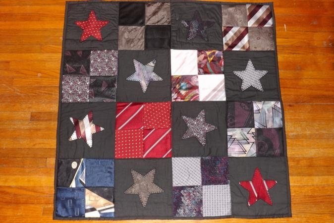 neck tie quilt lovetoknow Cozy Tie Quilt Patterns For Beginners