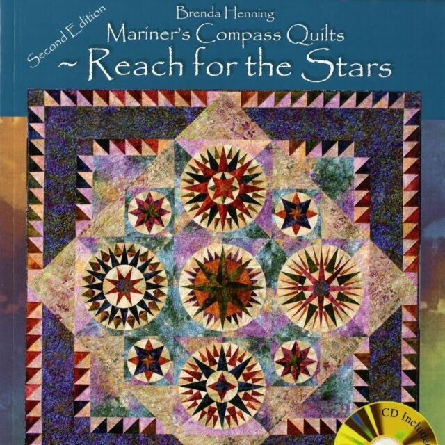 new book mariners compass quilts 2nd edition brenda henning includes cd Modern Mariners Compass Quilts