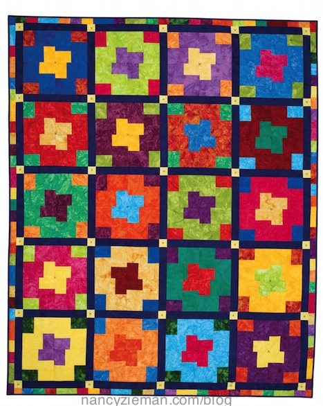 new design potential for basic 4 patch block nancy zieman Cool 4 Patch Quilt Block Patterns