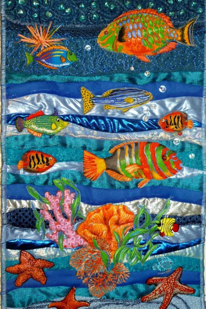 new exhibit of fabric art on display 3 fabric art Interesting New Fish Fabric For Quilting