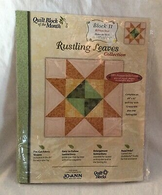 new joann fabrics quilt block of month rustling leaves block 11 ribbon star 699919967612 ebay New Joann Quilting Fabric Gallery