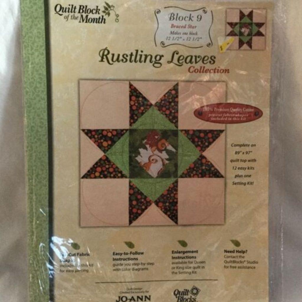 new joann fabrics quilt block of month rustling leaves block 9 braced star New Joann Quilting Fabric Gallery