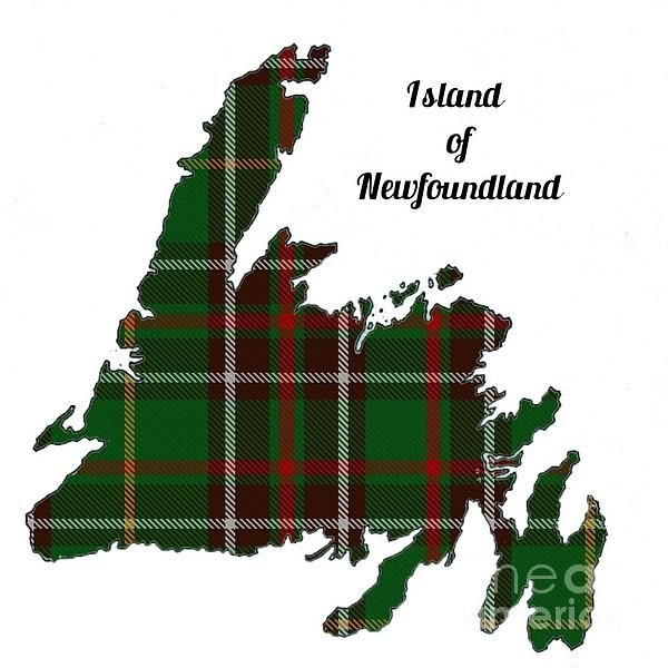 newfoundland map with tartan inset newfoundland in 2019 Cool Newfoundland Haritage Quilt Patterns Gallery