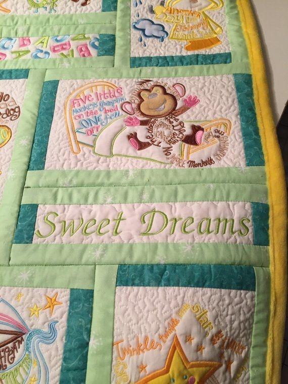 nursery rhyme quilt etsy kristins mary poppins quilt Interesting Nursery Rhyme Quilt Patterns Inspirations