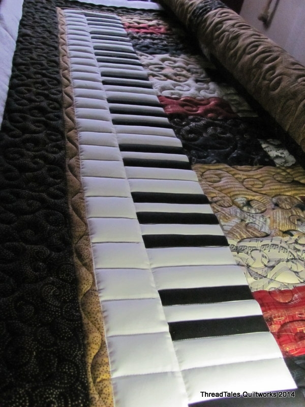 off the machine today threadtales the stuff of life Modern Music Themed Quilts Gallery