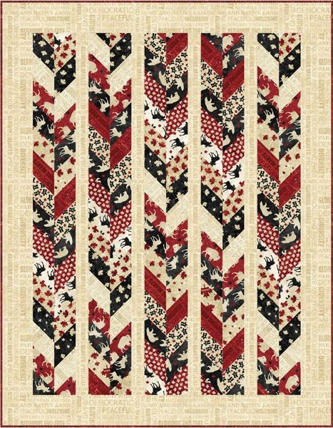 oh canada chevron quilt pattern pc 214 quilt of valor Modern Chevron Quilt Pattern Queen Inspirations