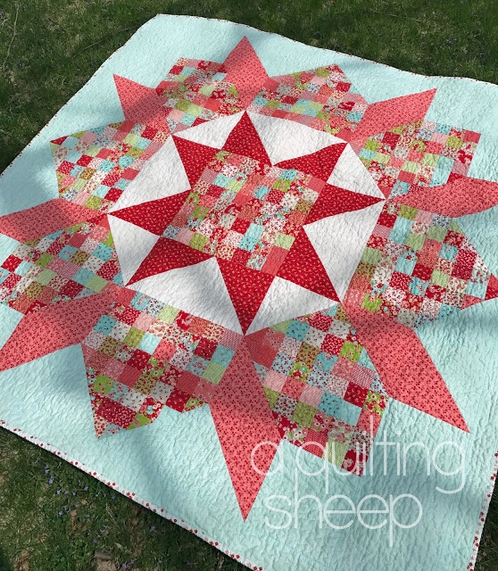 one big block makes a beautiful patchwork quilt quilting Stylish Patchwork Swoon Quilt Pattern
