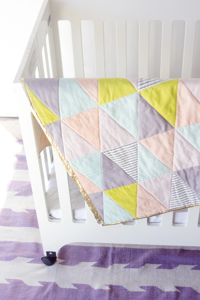 one hour triangle quilt see kate sew Cozy Easy Triangle Quilt