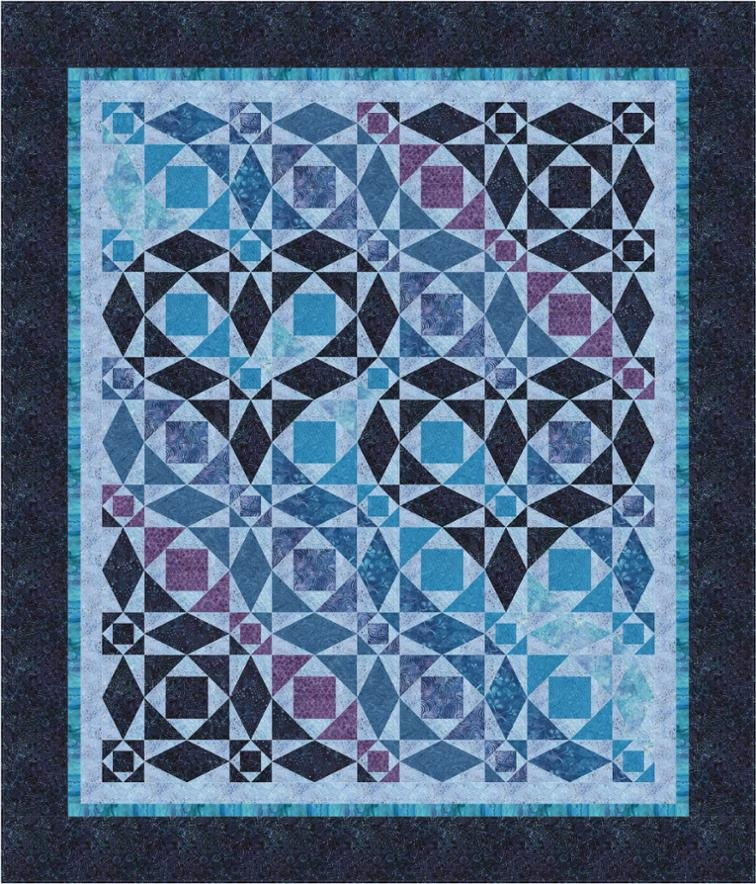 our hearts will go on storm at sea var bluprint Elegant Stormy Seas Quilt Pattern