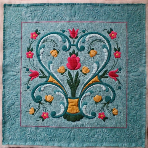 outline quilting for machine applique Cozy Quilting Applique Patterns