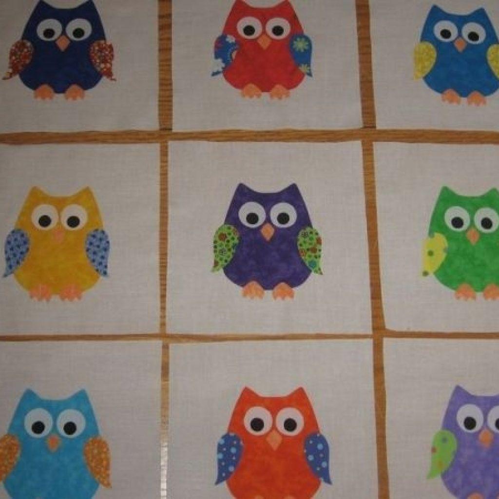 owl applique quilt sue lindley applique quilts owl Cool Owl Applique Quilt Pattern Gallery