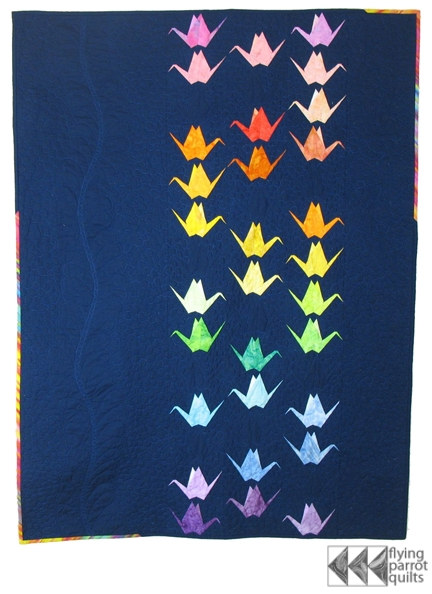 paper cranes flying parrot quilts Unique Origami Crane Quilt Pattern Gallery