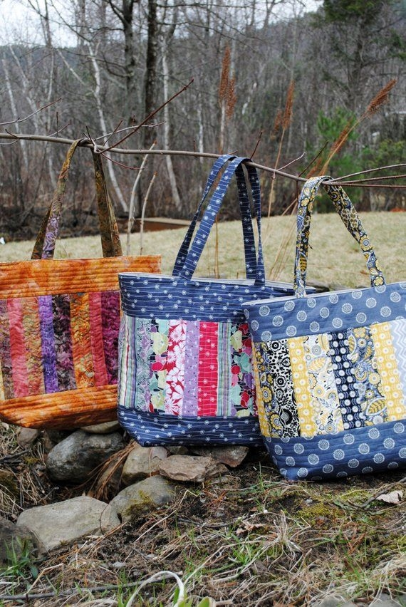 patchwork tote bag pattern large quilted tote mary Unique Sewing Quilted Bags Inspirations