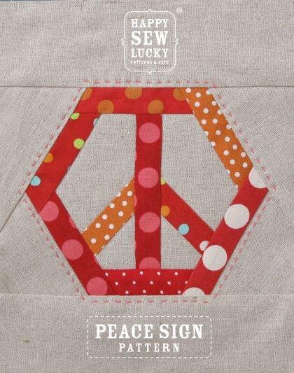 peace hexie pattern quiltinspiration quilt block Peace Sign Quilt Pattern Inspirations