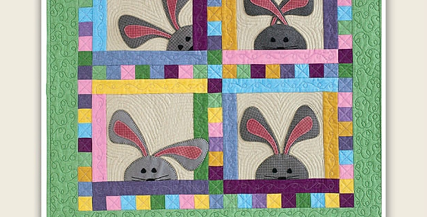 peek a boo bunnies are darling in this quilt quilting digest Interesting Peek A Boo Quilt Pattern Inspirations