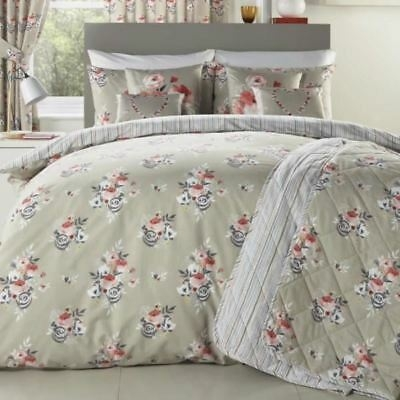 penelope floral duvet covers vintage style bedding quilt sets coral beige Interesting Vintage Style Quilt Covers