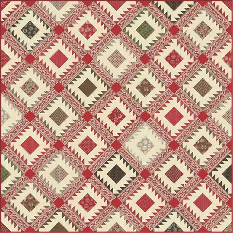 petites maisons de noel quilt kit quilt pattern moda fabric french general Modern French General Fabric Quilt Patterns Inspirations