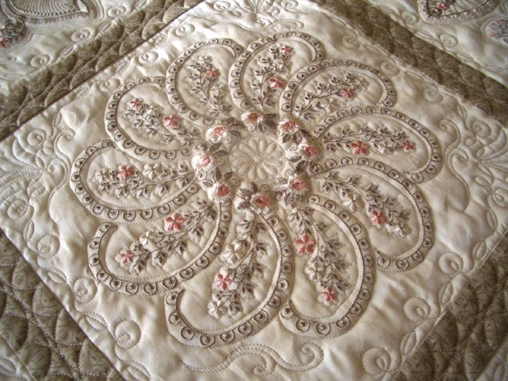 piccadilly paisley quilts silk ribbon embroidery Cool Quilt Embroidery Patterns