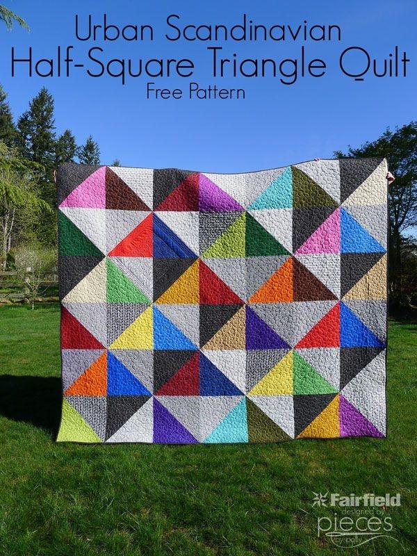 pieces polly urban scandinavian modern half square Modern Scandinavian Quilt Patterns Gallery