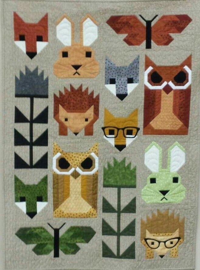 pin helen cassidy on quilts elizabeth hartman pinterest Modern Animal Patchwork Quilt Patterns Gallery