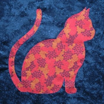 pin judy smith on applique cat quilt patterns cat Elegant Cat Applique Quilt Patterns