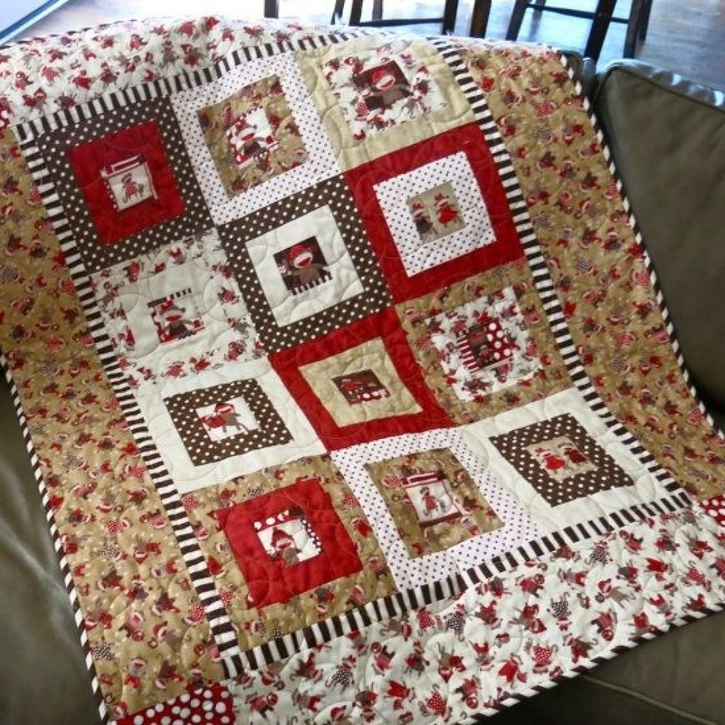 pin leanna mize on quilting projects sock monkey ba Unique Sock Monkey Quilt Pattern Inspirations