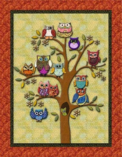 pin on my obsession with owls board Cool Owl Applique Quilt Pattern Gallery