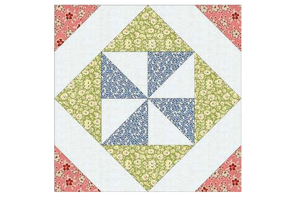 pinwheel in a square quilt block pattern Interesting Windmill Quilt Block Pattern Gallery