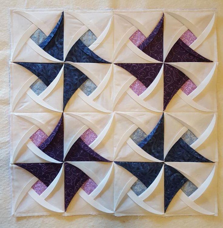 pinwheel surprise folded quilt block pattern quilt blocks Interesting Windmill Quilt Block Pattern Gallery