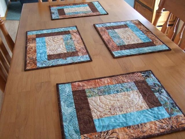 placemats i like these and they are simple these are Cozy Quilted Placemat Patterns Gallery