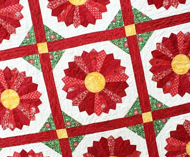 poinsettia quilt block pattern free quilt patterns Modern Poinsettia Quilt Block Pattern Gallery
