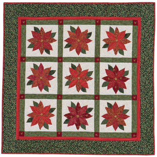 pretty poinsettias quilt stitch this the martingale blog Modern Poinsettia Quilt Block Pattern Gallery