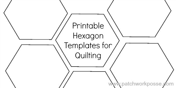 printable hexagon template for quilting pdf download Hexagon Baby Quilt Pattern To Print Free Gallery