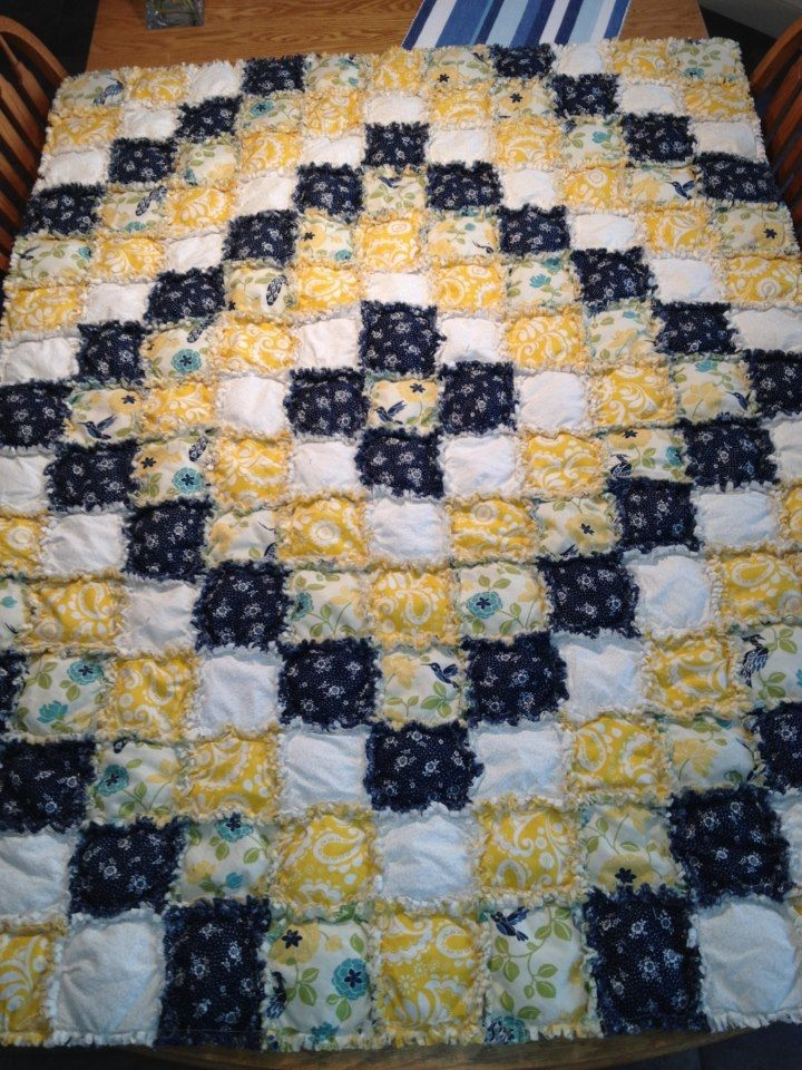 puffy rag quilt around the world pattern i think things Quilt Patterns Pictures Of Rag Quilts Inspirations
