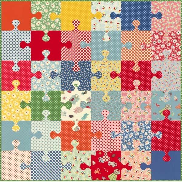 puzzle pieces quilt kit 57 square Interesting Puzzle Piece Quilt Pattern