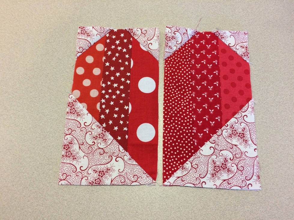 quick heart quilt block tutorial on bluprint Cozy Heart Quilt Block Pattern