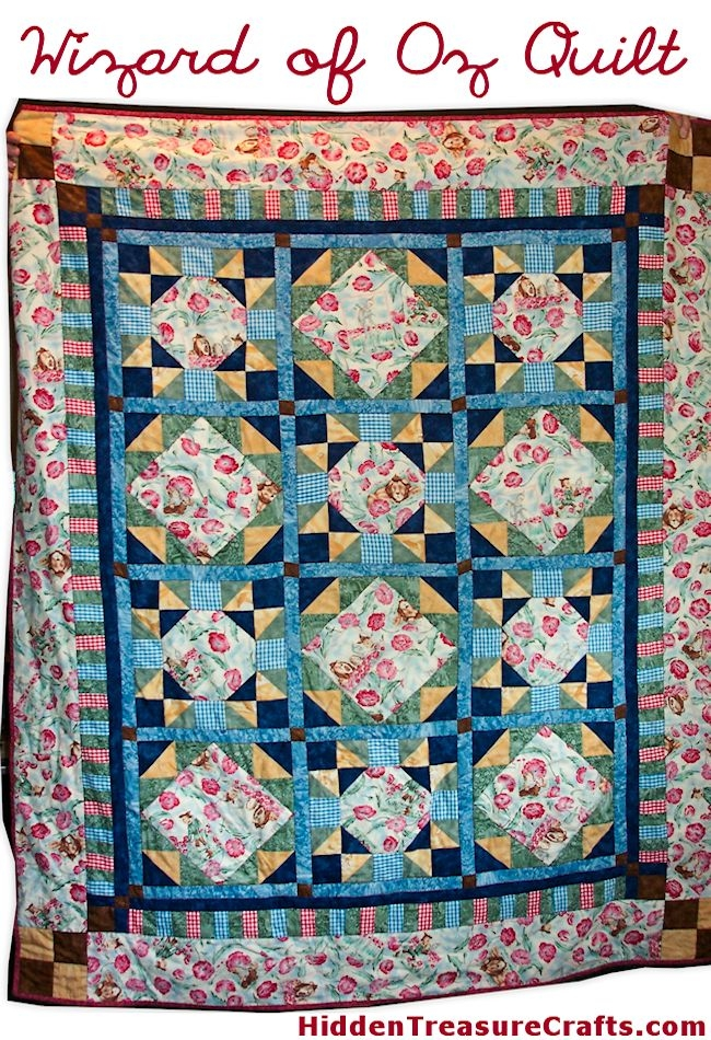 quilt 7 wizard of oz hidden treasure crafts and quilting Unique Wizard Of Oz Quilt Pattern Inspirations