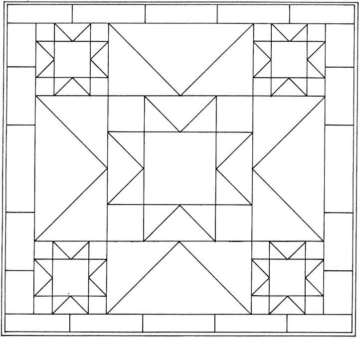 quilt block coloring pages patterns quilts barn quilt Modern Quilt Pattern Coloring Pages Inspirations
