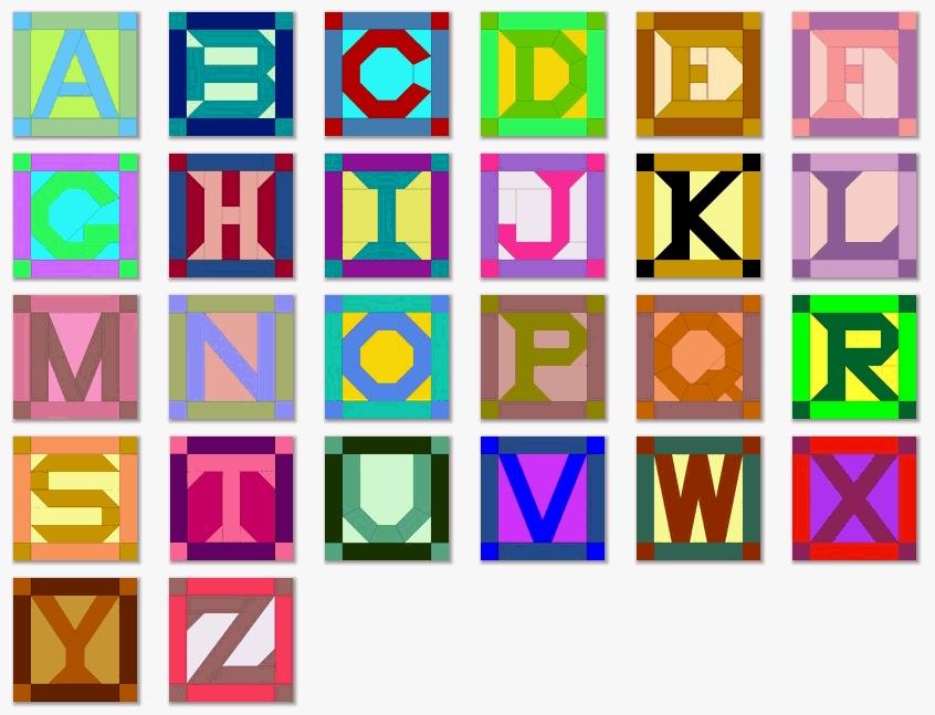quilt inspiration abcs of quilting alphabet quilts Elegant Alphabet Quilt Block Pattern