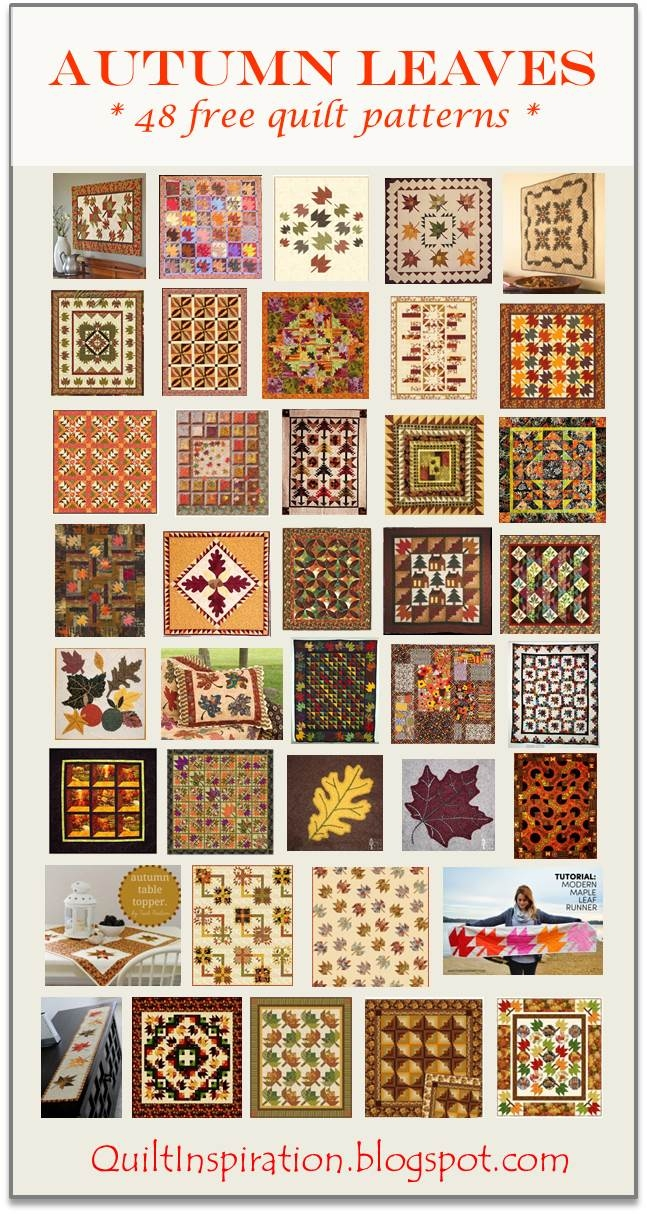 quilt inspiration free pattern day autumn leaves quilts Cool Fall Leaves Quilt Pattern Gallery