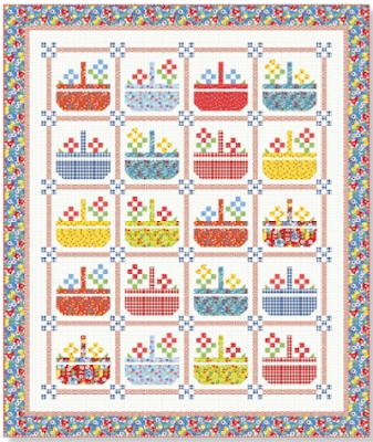 quilt inspiration free pattern day basket quilts Interesting Flower Basket Quilt Pattern