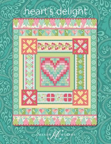 quilt pattern hearts delight amanda murphy design Cozy Amanda Murphy Quilt Patterns