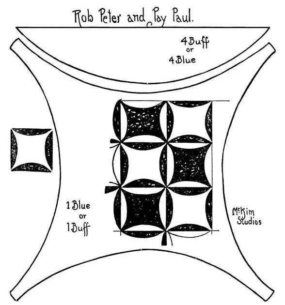 quilt pattern rob peter and pay paul block funny name Rob Peter To Pay Paul Quilt Pattern
